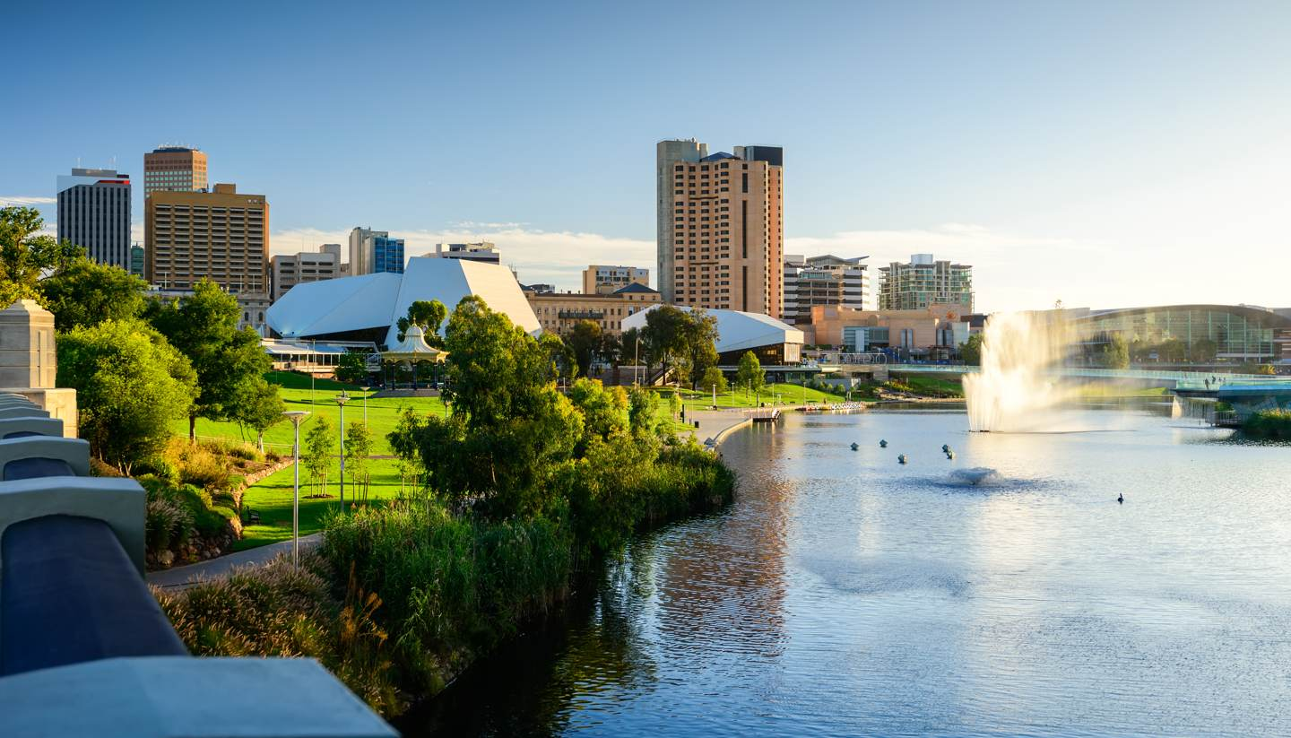 Adelaide - Adelaide city skyline - Adelaide city travel guide