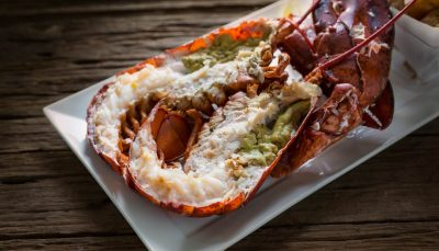 Lobster steamed with white wine sauce - Vancouver food and drink guide