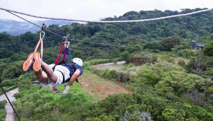 Ziplining over Monteverde in Costa Rica