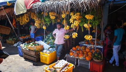 Fruit market stall in Kandy