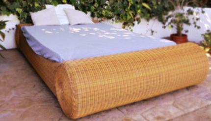 Poolside bed in Can Vistabella