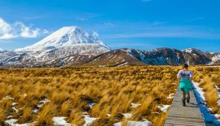Tama Lakes trail in Tongariro National Park