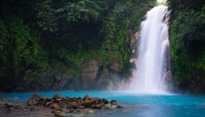 Rio Celeste waterfall, Costa Rica