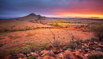 The desert of Alice Springs, Australia