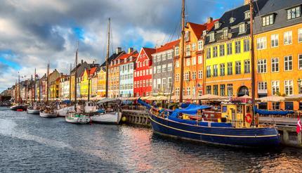 Nyhavn area in Copenhagen