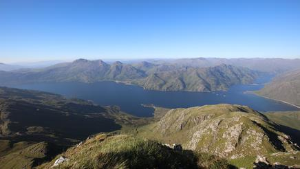 Hillsides and mountains of Knoydart Munros, Scotland