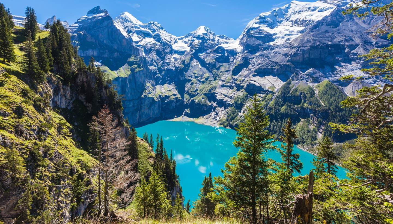 Summer adventures in Switzerland - Oeschinen Lake, Switzerland