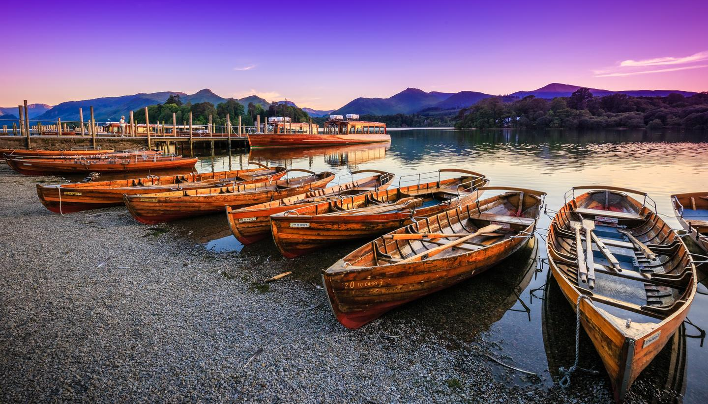 Touring the Lake District - Twilight on Derwentwater, The Lake District, Cumbria, England