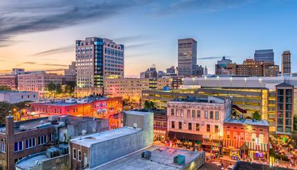 Memphis skyline, Tennessee, USA