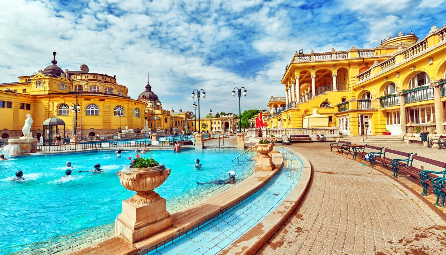Central European historic spas and resorts - Szechenyi Baths in Budapest, Hungary