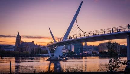 Peace Bridge, Londonderry, Northern Ireland