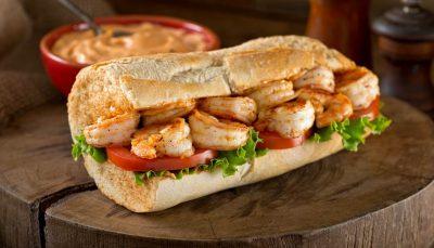 PoBoy sandwich with shrimp