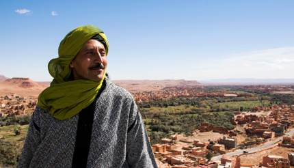 Local Berber people are friendly