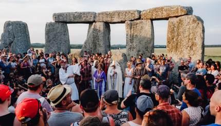 Druids at Stonehenge, England