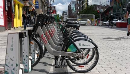BIXI bikes in Montreal, Canada