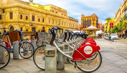 Sevici bikes in Seville, Spain
