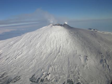 Aerial view of Mt Etna, Sicily