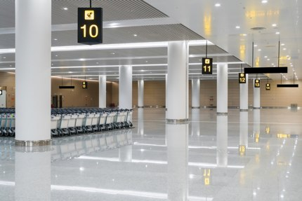 Some airports are devoid of tourists