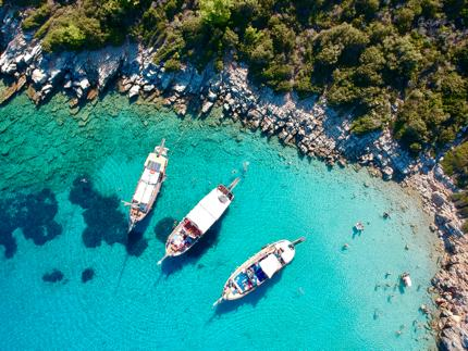 Stunning Orak Island is only a short distance from Bodrum