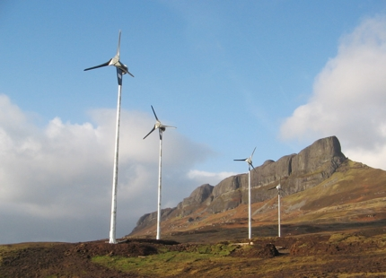 Wind turbines in Eigg, Scotland
