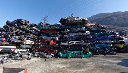 A scrapyard in Switzerland