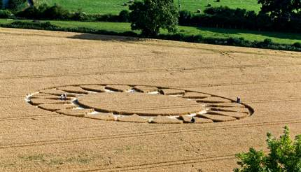 A crop circle in Wiltshire, England