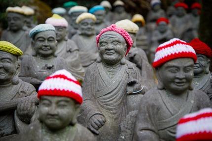 Adorable statues in Daishō-in, Miyajima