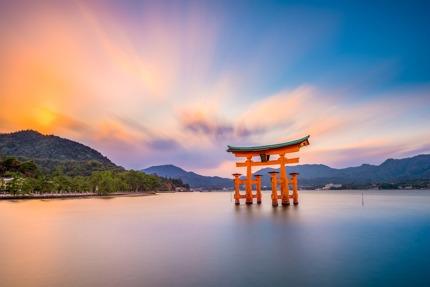 The 'floating' Torri gate, Miyajima, Japan