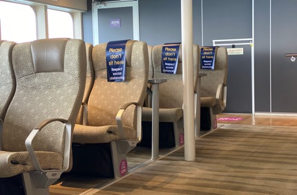Condor Ferries reduce the number of passengers to ensure social distancing