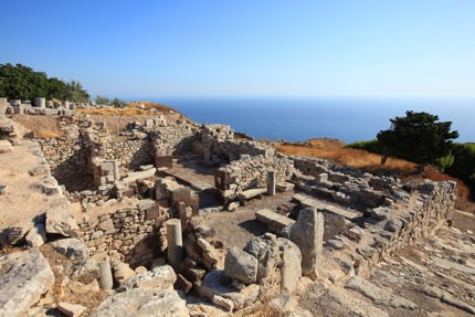 The ruins at Ancient Thera