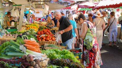A market in Ajaccio