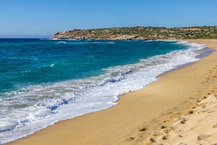 Algajola beach, between Calvi and L'Île Rousse