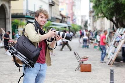 A tourist in Old Havana