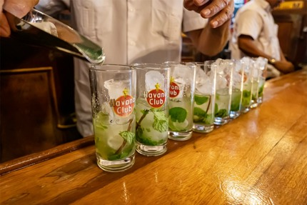 Use Havana Club Cuban rum for a great mojito