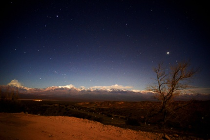 A night view in El Leoncito National Park