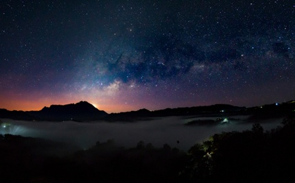 A night view in Mount Kinabalu