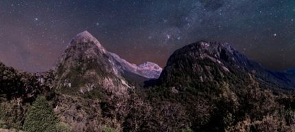 A night view in Coromandel Forest Park