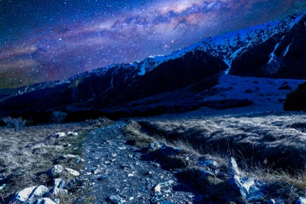 A night view in Mount Cook National Park