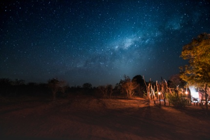 A night view in Kruger National Park