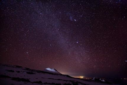 A night view on Mauna Kea