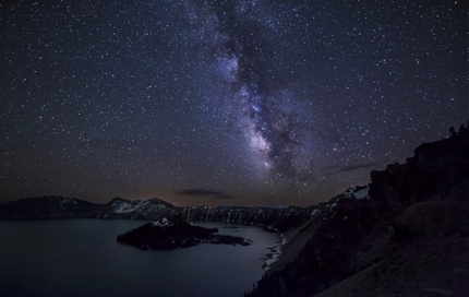 A night view in Crater Lake National Park