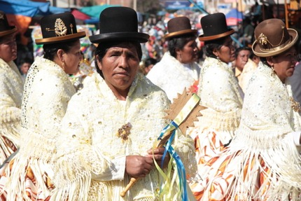 Cholitas in Cochabamba, Bolivia