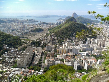 Copacabana, seen from Morro dos Cabritos, Rio de Janeiro