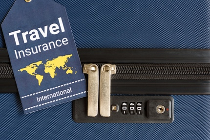 A concept image of travel insurance