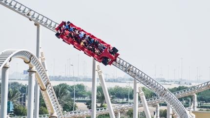 The fastest rollercoaster at Ferrari World, Abu Dhabi