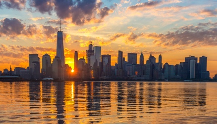 Sunrise over Manhattan, New York