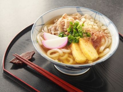 Enjoying a bowl of udon in Kagawa