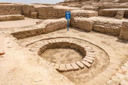 An ancient well at Mohenjo-daro