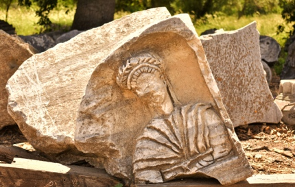 Ruins in ancient Troy, Turkey