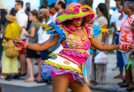 A dancer at Junkanoo